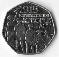 United Kingdom 2018 50p  Representation of the People Act (B)